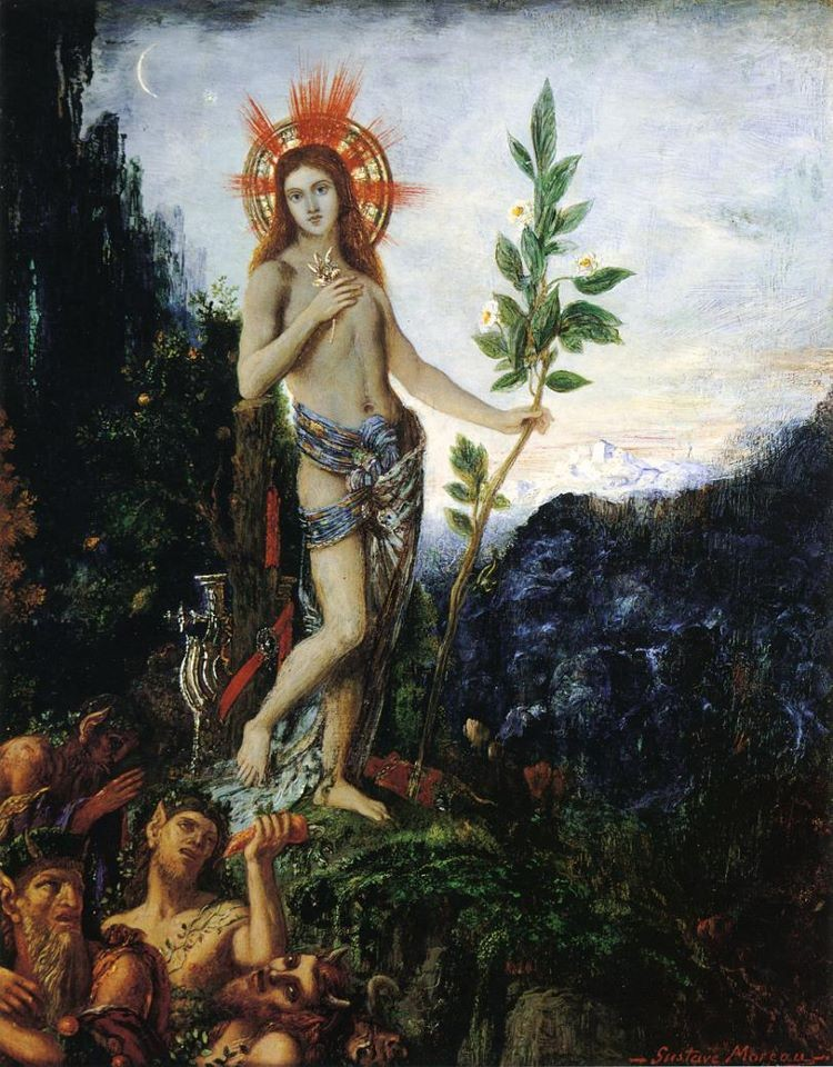 Apollo and the Satyrs, Gustave Moreau